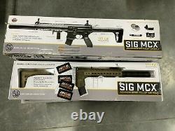 Sig Sauer Mcx. 177 Cal Co2 Alimenté 88gr Rifle D'air, 30 Pellet Rds Mcx-177-fde