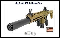 Sig Sauer Mcx. 177 Cal. Desert Rifle Tan- Semi Auto Dsbr Métal