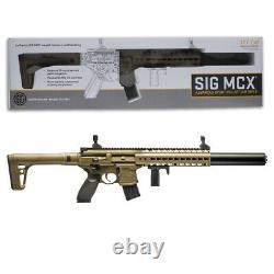 Sig Sauer Mcx. 177 Cal Pellet Co2 Powered Air Rifle With 30 Rd Mag Flat Dark Earth