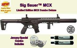 Sig Sauer Mcx. 177 Calibre 30 Rounds Co2 Powered Semi Automatique Carabine À Air Comprimé