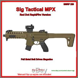 Sig Sauer Mpx. 177 30 Rounds Co2 Carabine À Air Comprimé Red Dot Scope