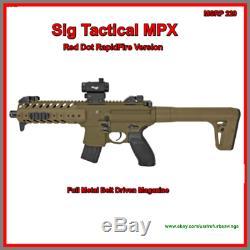 Sig Sauer Mpx. 177 Cal 30 Rounds Co2 Carabine À Air Comprimé Avec 1x20 Red Dot Scope Economisez 40%