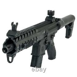Sig Sauer Mpx. 177 Cal Air Rifle Avec Co2 90 Gram (2 Pack) 500 Plomb Pellets Noir