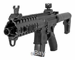 Sig Sauer Mpx. Carabine À Air Comprimé Ronde 30 De Calibre 177 Avec Pistolet À Pellets, Tout Noir