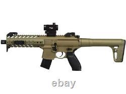Sig Sauer Mpx Co2 Gun Dot Sight Flat Dark Earth Air Rifle. 177 Calibre Semi-automatique