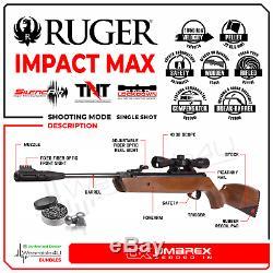 Umarex Ruger Impact Max. 22 Granules Carabine À Air Comprimé Avec Portée 4x32mm