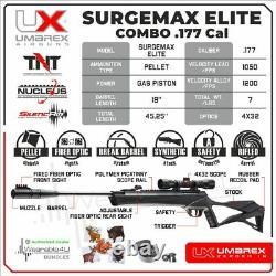 Umarex Surgemax Elite. 177 Cal Pellet Air Rifle Airgun Avec 4x32 Scope And Rings